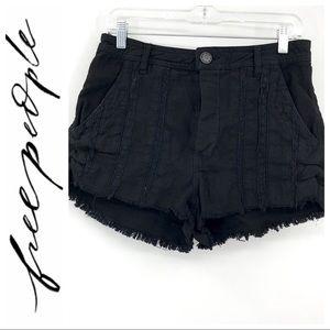 💕SALE💕Free People Black Lace Fringe Shorts